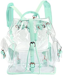Zicac Summer Clear Backpack Cute Knapsack Satchel Transparent (Green)