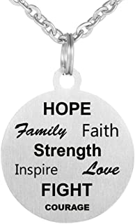 Stainless Steel Inspirational Pendant Necklace Friendship Jewelry Keychain Lettering Necklace Birthday Gift for Women Girl