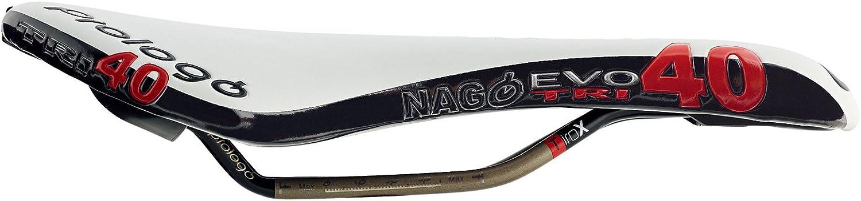 Prologo CPC Nago EVO Tri40 Saddle; TiRox 135mm; White Black