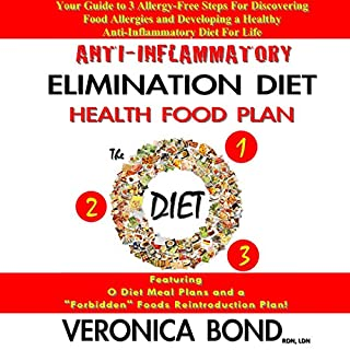 Anti-Inflammatory Elimination Diet Health Food Plan     Your Guide to 3 Allergy-Free Steps for Discovering Food Allergies and Developing a Healthy Anti-Inflammatory Diet for Life              By:                                                                                                                                 Veronica Bond                               Narrated by:                                                                                                                                 Amanda Smith                      Length: 46 mins     10 ratings     Overall 3.4