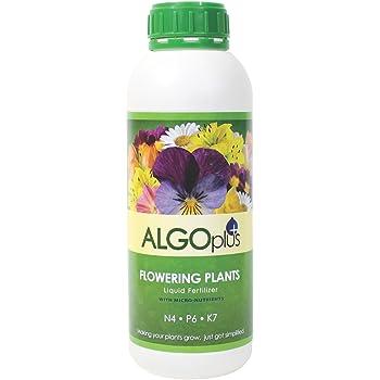 Algoflash Flowering Plants - Liquid Fertilizer & Plant Food 1-Liter Bottle