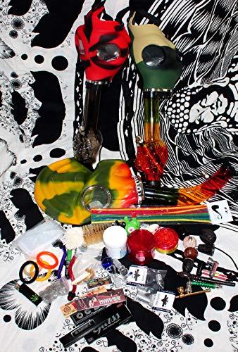 budawi- Headshop Set Acrylbong Maske- Wundertüte, Gas Acrylbong Maske, Chillum, Steckköpfe, Grinder, Pur-Pfeife, Papers, Mystery-Boxen, Percolator, ActiTube, Schmand-Weg, OCB …