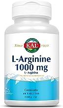 KAL L-Arginine 1000 mg 60 tabletas de aminoácido de L-