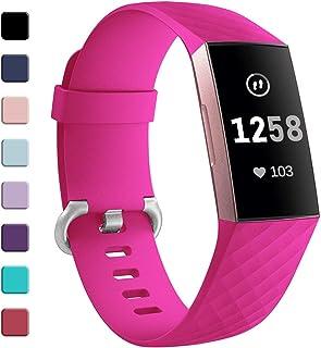 GEAK Bransoletka kompatybilna z Fitbit Charge 3/Fitbit Charge 4, regulowana klasyczna zapasowa bransoletka do Fitbit Charg...
