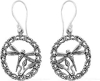 Dragonfly Dangle Drop Earrings 925 Sterling Silver Jewelry for Women