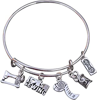 Sewing Jewelry- Sewing Gift, Sewing Bracelet, Sewing Gifts, Perfect Gift for Quilters or Sewers