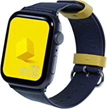 Mr. Time Ultra Thin Genuine Leather Band for Apple Watch Series 5 (44mm), Premium Strap Replacement Compatible with Smart Watch Sizes 42mm/44mm for Apple Models 4, 3, 2, 1 [Easy Install], Navy Blue