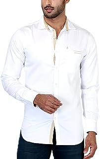 Rapphael Long Sleeve Shirt for Men - White
