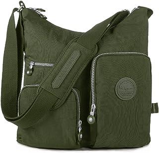 Oakarbo Nylon Multi-Pocket Crossbody Bag