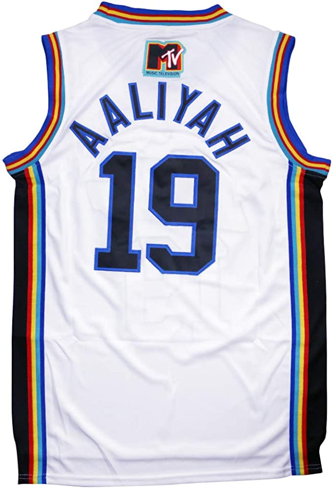 Aaliyah 19 Bricklayers MTV Rock N Jock Basketball Jersey S-XXXL