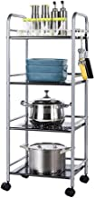 Cutlery Racks Multi-Layer Rack Kitchen Storage Rack Storage Shelf Four Layers with Pulley Cutlery Racks