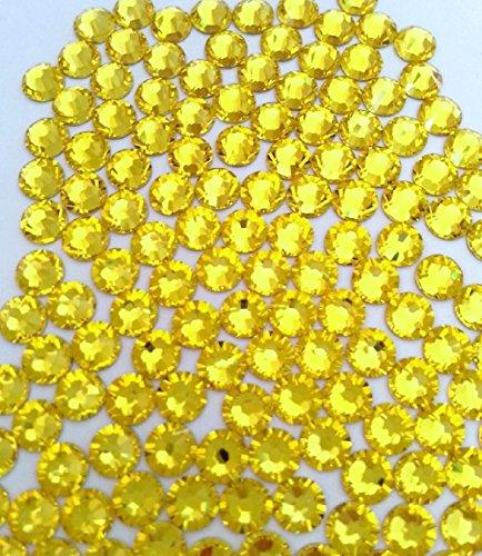 HOTFIX Citrine Yellow Crystal Rhinestones Flatback 144 SWAROVSKI 3.2mm 12ss ss12