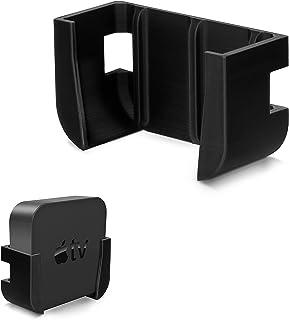 Brainwavz Apple TV Mount with VHB Tape - Compatible with All Apple TVs Including Apple TV 4K, No Screw Holder (Black)