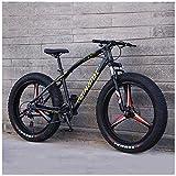 ATRNA 26 Fat Bike Bicicleta de Montaña, Cruiser Bike Bicicleta Paseo Deporte Playa Viajes Mountain Bike Unisex con Asiento Ajustable, MTB para Hombre, Mujer