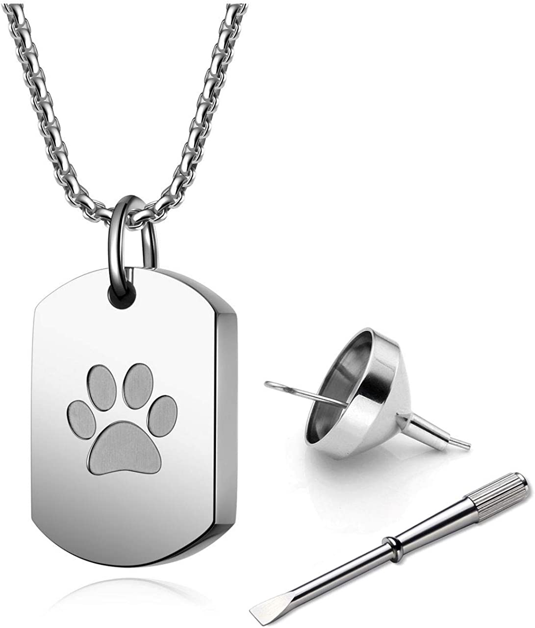 PiercingJ Spring new work Personalized Engraving Pet Jewelry Max 65% OFF Ashes Urn Memorial