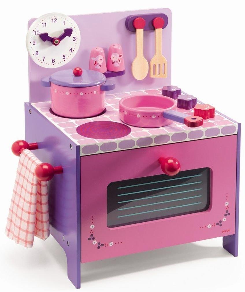 cuisine en bois jouet djeco