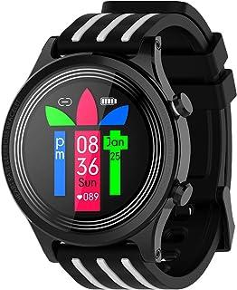 Reloj inteligente a prueba de agua IP68 inteligente aptitud del reloj rastreadores con Pulsómetro rastreador de ejercicios reloj podómetro Cronómetro Hombres Mujeres para iPhone teléfono Android