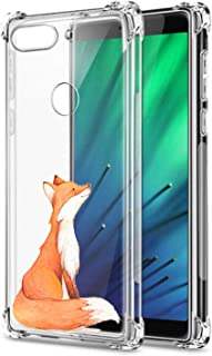 Oihxse Compatible with Xiaomi Redmi GO Case Slim Fit Crystal Clear Transparent with Cute Cartoon Design Back Cover, Soft Silicone [Air Cushion] Drop Proof Shockproof TPU Bumper Skin-Fox