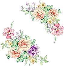 Adesivos de parede de flores coloridas 3D lindos adesivos de geladeira peônia guarda-roupa banheiro decoração PVC decalque...