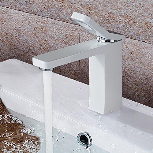 Homelody - Design-Waschbeckenarmatur, Einhebelmischer, ohne Ablaufgarnitur, Weiß