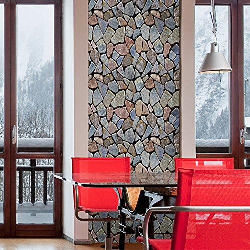Zegeey 45x100 cm 3D Ziegelstein Rustikalen Effekt Selbstklebende Wandaufkleber Home Kitchen Backsplash Decor