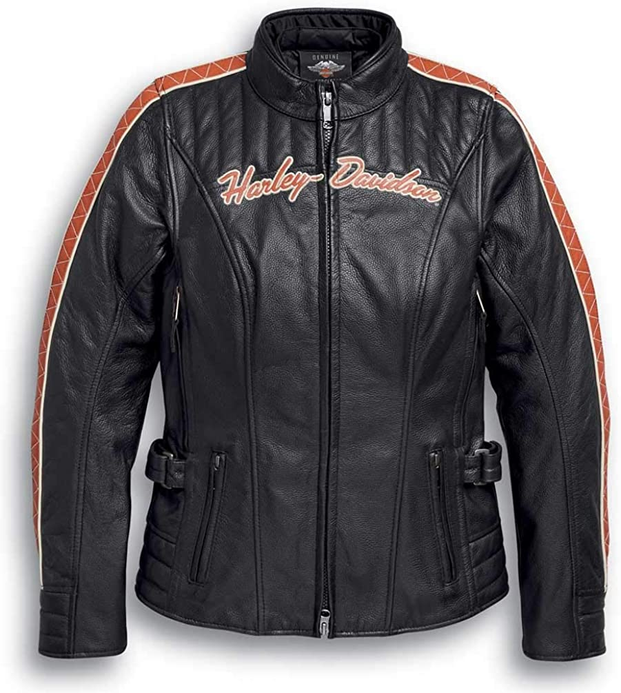 Harley-Davidson Womens Vanocker Waterproof Triple Vent Leather Jacket 98004-20VW