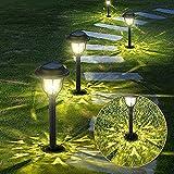 10 Stück Solarleuchten Garten Solarlampen - GEEDIAR Wasserdicht Außenleuchten - Solar Wegeleuchte Dekorative Licht für Außen Garten Patio Rasen Terrasse Fahrstraßen (Warmweiß)