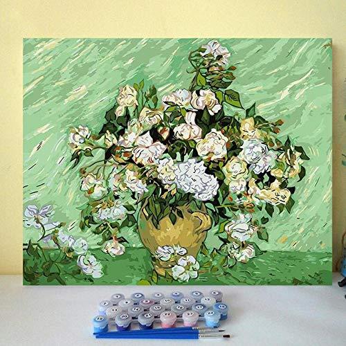 thfff DIY Malen Nach Zahlen Bilder Malen Nach Zahlen Mit Kits Van Gogh Weltberühmter Maler Überlieferte Klassiker Berühmte Malerei