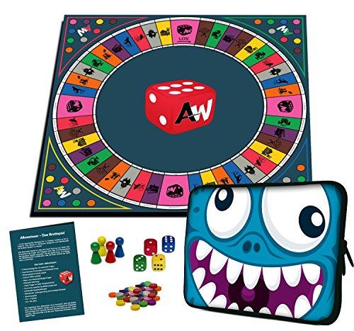 Alleswisser - Das Brettspiel, interaktives Quiz-, Wissens- und Familienspiel mit App für iOS und Android mit Tasche im Comic-Layout