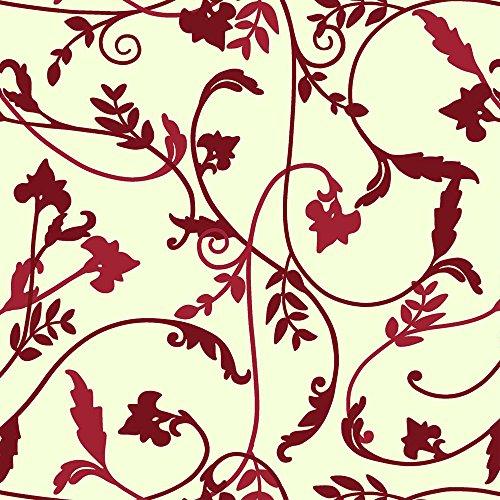 Nappe toile cirée PVC Rectangulaire Metrage 140 x 200 cm Rouge Naturel