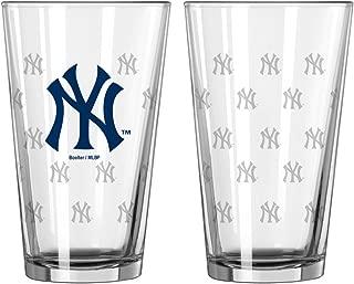 new york yankees pint glasses