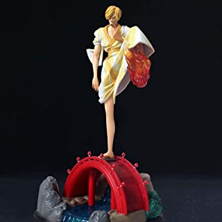 HAHKOK EinteileigeアニメPuppe vinsmoke Sanji Hochwertige版像蛹のスケュールプールSpielzeug Dequoration Modell Figurfigurhöhe30cm Blame bab...