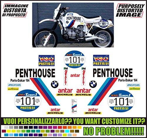 Kit adesivi decal stickers compatibili R80 GS TEAM PENTHOUSE PARIS DAKAR 1984 ability to customize the colors)