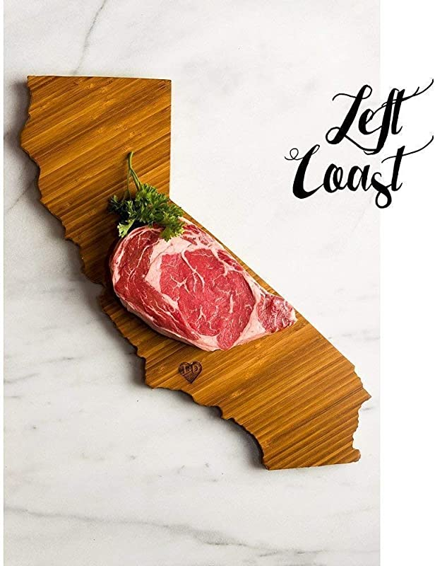 Personalized California State Shaped Cutting Board By Left Coast Original