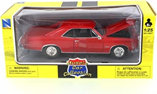New Ray 1966 Pontiac GTO, Red 71853A - 1/24 Scale Diecast Model Toy Car