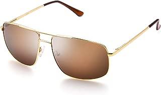 Polarized Sunglasses Aviator Sunglasses for Men, Rectangular Metal Frame, Ultra Lightweight, 100% UV protection