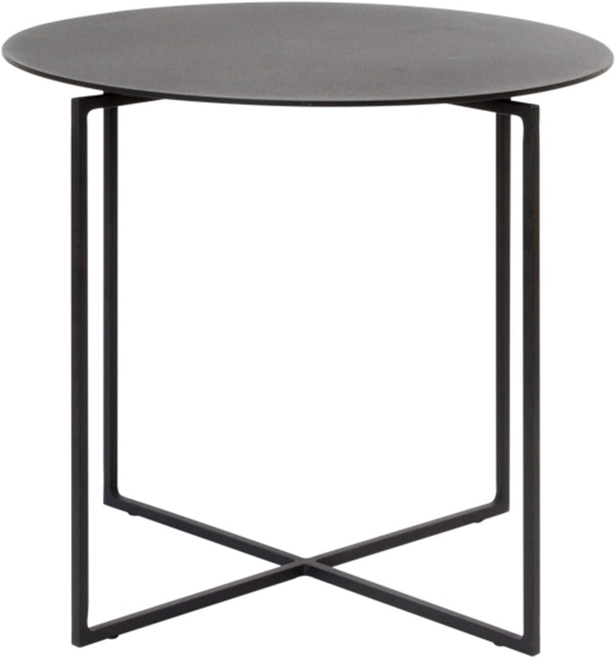 Mesas de café Mesa de extremo redonda de metal, mesa lateral Matte premium Texture Tabla de café pequeña for sala de estar Baño Baño Balcón y oficina, 15.7