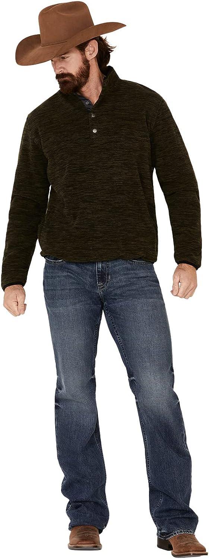 North River Men's Fleece 1/4 Snap Mock Neck Pullover