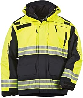 5.11 Tactical Men's Responder's High Visibility Performance Parka, Style# 48073, Dark Navy, XX-Large