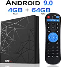 Android 9.0 TV Box, [4GB+64GB]EVANPO T95 max Quad Core Smart TV Box Android Box Media Player Support USB 3.0 / 3D/ 4K/ 6K/ H.265/ HD Resolution 2.4G WiFi Set Top TV Box