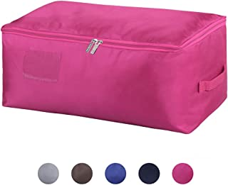 DOKEHOM Large Under Bed Storage Bag (5 Colors), Thick Ultra Size Fabric Clothes Bag, Moisture Proof (Red, L)