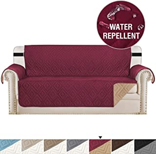 H.VERSAILTEX Sofa Cover Protector Furniture Protector Prevent Water with 2 Inch Elastic Straps, Seat Width Up to 66