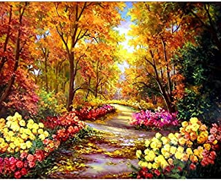 Large 5D Diamond Painting Kits for Adults Full Drill 20x16Inch /50x40CM Crystal Embroidery Dotz Home Wall Art Decor Countryside Park by TOCARE, Landscape Blossom