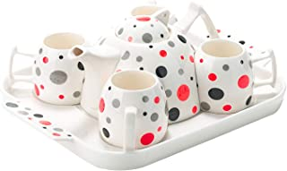 Best red and white polka dot tea set Reviews