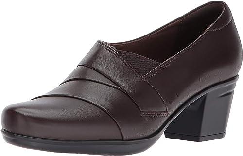 CLARKS Woherren Emslie Warbler Dark braun Leather 9.5 W US