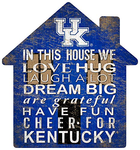 Fan Creations NCAA Kentucky Wildcats Unisex University of Kentucky House Sign, Team Color, 12 inch