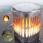 Ollivage Outdoor Solar Lanterns Dancing Flame Outdoor Hanging Lanterns Lights Solar Powered and USB Charging Torch Light Waterproof Auto Sensor for Garden Patio Yard, 1 Pack Weather Resistant