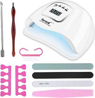 150W LED UV lámpara de uñas Secador de uñas AsperX Kit de luz de esmalte de uñas de gel Detección automática inteligente ...