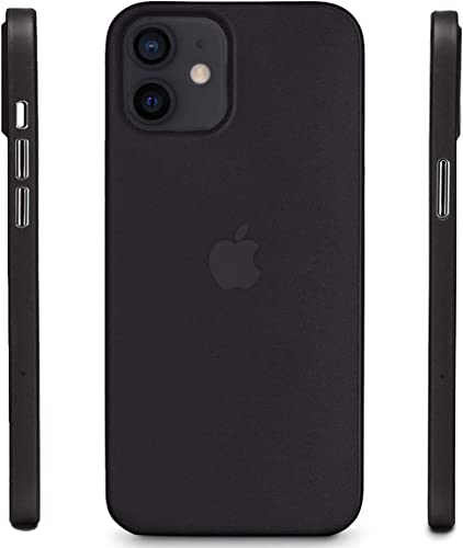 CROSSVOLT Ultra Thin Matte Anti Scratch Slim fit Back Cover Case for iPhone 12 Black