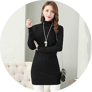 Winter Women Long Fleece Sweater Female Plus Thick Velvet Warm Underwear Sweater